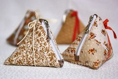 tutorial triangle zipper coin purse