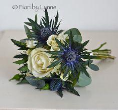 Wedding Flowers Blog: Nina's Winter Wedding Flowers, Scottish Thistle and Rose