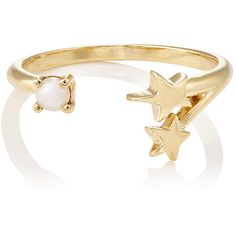 Pamela Love Women's Orion Cuff Ring ($79) ❤ liked on Polyvore featuring jewelry, rings, no color, pearl band ring, cuff jewelry, pearl jewelry, cuff rings and pearl jewellery
