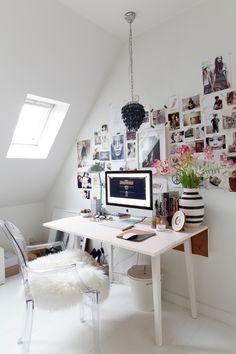 Un intérieur scandinave comme on les aime - Blueberry Home Home Office, Office Decor, Desk Office, Work Desk, Office Ideas, Desk Inspiration, Interior Inspiration, Desk Inspo, Blueberry Home