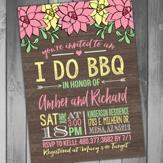 I do BBQ Bridal Shower Wedding Shower Printable by CLaceyDesign