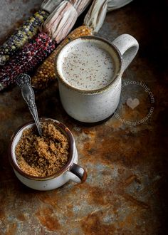 Chocolate de Maíz Recipe (Roasted Corn 'Cocoa'): Thick, warm, comforting, it is the perfect drink for weekend breakfast, or to cuddle up to on a cold day.