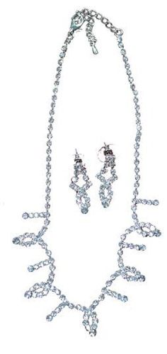 Gorgeous Silver Color Necklace and Earrings Matching Set -- Details can be discovered by clicking the photo. (This is an affiliate link). Matching Set, Silver Color, Jewelry Sets, Silver Rings, Detail, Link, Earrings, Stuff To Buy, Ear Rings
