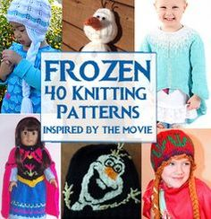 Frozen Inspired Knitting Patterns - Hats, Toys, Clothing, more inspired by Elsa, Anna, Olaf and more at http://intheloopknittingpatterns.com/frozen-knitting-patterns