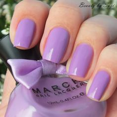 March Nail Lacquer, MM-005-- pretty easter purple-LMS