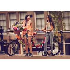 """Free People Features """"Girls on Bikes"""" for its January 2013 Catalogue found on Polyvore"""