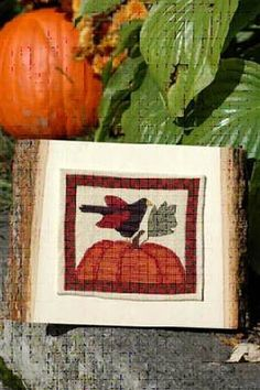 """""""Crowing About Fall"""" from Myrtle Grace Motifs - perfect autumn motifs of crow and pumpkin."""