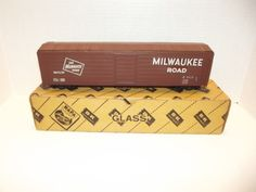 Old 1940's 50's Athearn or Westbrook O Scale Milwaulkee Road Tin Freight car  #Athearn