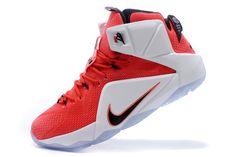 """new styles fc592 32374 Nike LeBron 12 """"Heart Of A Lion"""" University Red White-Black 684593-601"""