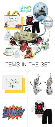 """""""Happy Birthday to my Grandson,Laim,I year old,March 23rd"""" by ragnh-mjos ❤ liked on Polyvore featuring art"""