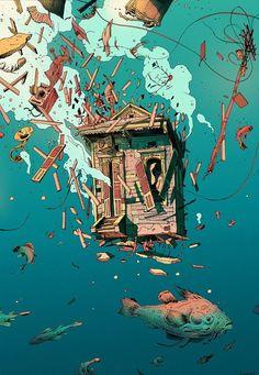 Иллюстрации Ольвье Бонома (Olivier Bonhomme)