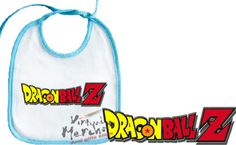 BABERO-DRAGON-BALL-Z-LOGO-ROSA-O-AZUL-personalizado-bebe-baby-bib-pink-blue-dbz