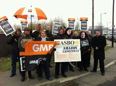 GMB protest - outside every UK Amazon warehouse, 13th February 2013