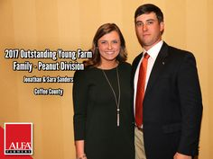 Peanut Division OYFF winners Jonathan & Sara Sanders of Coffee County Young Farmers, Create Awareness, Division, Alabama, Conference, Leadership, Coffee, Kaffee, Cup Of Coffee