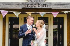 Hyde Barn couple portraits - this was taken straight after the ceremony