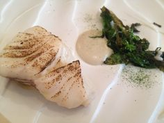 Cod with broccoli and pil pil at Restaurant David Toutain in Paris | parisbymouth.com