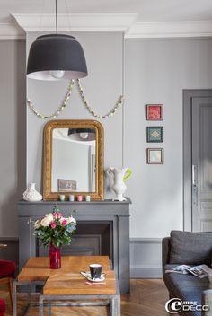 Love this frame. ~~ Un appartement trendy à Lyon, un reportage du magazine de décoration 'e-magDECO'