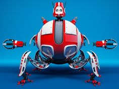 Robot D09E - 3d model - CGStudio