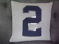 DEREK JETER OneofaKind T shirt Pillow. by ThePastureRoad on Etsy