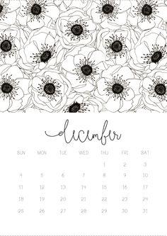 11/12 November monthly 2016 calendar printable, collage