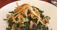 """""""Our ensalada picada is a great summery alternative to your usual grilled salmon entree. The combination of hearty kale, flavorful roasted corn, the crunch of the tortilla chips, and kick from the poblano peppers makes it a real crowd pleaser for weeknight dinner and outdoor gatherings alike. Not to mention salmon is full of omega-3 fatty acids, which are great for your metabolism,"""" says Rosa MexicanoExecutive Regional Chef Joe Quintana.Ingredients1 salmon, 7oz1 tbsp celery, finel..."""