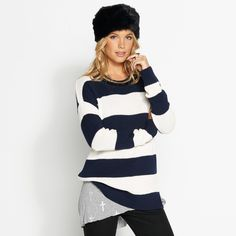 Stripe Manhattan L/Line Knit ($39.95) from Dotti.com.au