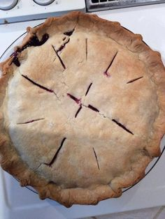 Huckleberry pie - Such a great use of our hard picked berries.  6 T corn starch…