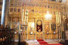 """Greek Othodox Patriarchate (referred to as the """"Vatican"""" of the Greek Christian Orthodox, last site of the Patriarchate of Constantinople at Church of St. George Phanar. Holy relics and part of the scourging pillar of Christ) - Istanbul, Turkey"""