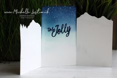 Tri fold christmas card using the Snow Front stamp set from Stampin Up made by Michelle Last Stampin Up Christmas, Christmas Crafts, Tri Fold Cards, Free Thank You Cards, Winter Trees, In The Tree, Stamping Up, Christmas 2019, Shades Of Green