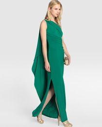 Vestido largo de mujer Lauren Ralph Lauren con tirante asimétrico
