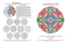 Mandalas Adult Coloring Pages Set of 10 by emerlyearts on Etsy