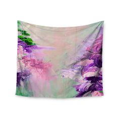 "Ebi Emporium ""Winter Dreamland 4"" Pink Purple Wall Tapestry"