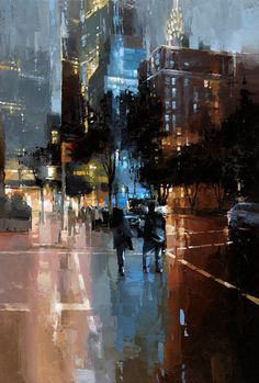 paisaje urbano The Art Of Animation Victor Bauer -. Watercolor Landscape, Landscape Paintings, Watercolor Art, 7 Arts, Cityscape Art, City Painting, Art Graphique, City Art, Grafik Design