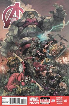 """""""Evolutionary Leap"""" _Written By Jonathan Hickman & Nick Spencer, Art By Mike Deodato , Cover by Leinil Francis Yu ,The High Evolutionary stakes his claim on the Children of the Sun. Hyperion learns th"""