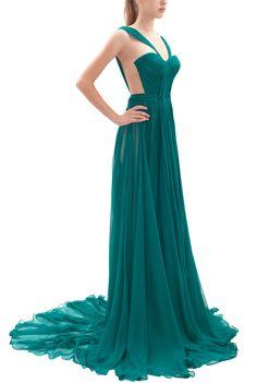 maria lucia hohan emerald brigitte gown