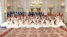 60th Annual International Debutante Ball at the Waldorf-Astoria's grand ballroom. Globally known: The tradition sees mostly debutantes from the United States, but young women debut themselves from countries all over the world