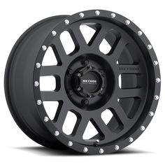 Method Race Wheels 18 x 9 in. NV 8 x in. Bolt Pattern in. Backspace 18 mm Offset Wheel - Matte Black, As Shown Truck Wheels, Wheels And Tires, Tacoma Wheels, Jeep Wheels, Tacoma Truck, Black Rims, Matte Black, Accessoires 4x4, Wheel And Tire Packages