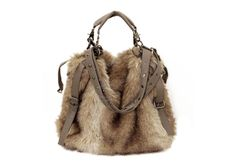 """""""I want it for Holiday Party this year!""""  47% OFF, Now Only $ 15.53 for this Tote with Rivets + Fur Decor"""