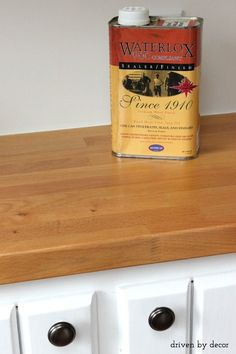 Waterlox - great food-safe product for sealing butcher block countertops