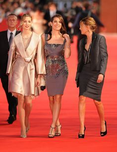 Charlotte Casiraghi ( in the middle of photo )