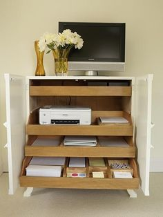 Devrik Storage Cabinet with Vented Pull-Out Tray by Ashley ...