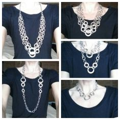 Gotta love Lia Sophia's Linkage necklace! So versatile! YES, this is ONE necklace worn multiple ways!