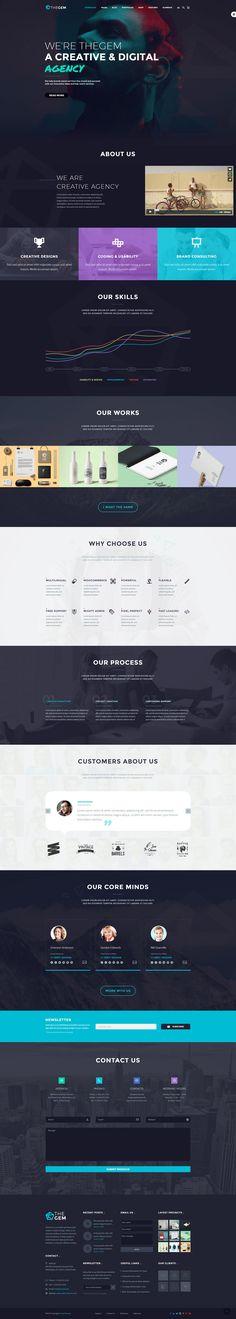 Creative Web Theme on Behance