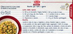 Una variazione alle tradizionali orecchiette con cime di rapa? Provate questa ricetta!  #Oggipastacon