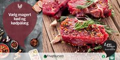 Vælg magert kød og kødpålæg! Kød indeholder mange proteiner, mineraler og jern, som kroppen har brug for i hverdagen. Når du vælger det magre kød frem for kød med højt fedtindhold, får du alle de gode næringsstoffer fra kødet og en mindre mængde mættet fedt.  Læs mere på www.frugtkurven.dk