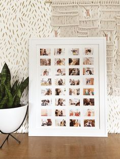 Make your own photo wall art display at home! Working with @CanonUSA #CraftywithCanon