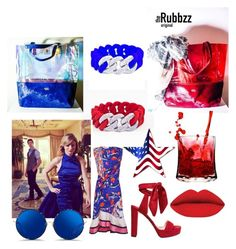 Happy 4th of July with Tje Rubbzz Oroginal fashion accessories. Made in USA. by therubbzzoriginal on Polyvore featuring polyvore, fashion, style, Emilio Pucci, Jimmy Choo, Matthew Williamson and clothing