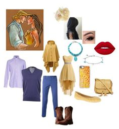 """""""Pocahontas & John Smith at Prom"""" by lilnekomagdie20 ❤ liked on Polyvore featuring Disney, Chan Luu, Nine West, West Coast Jewelry, Lime Crime, GURU, Johnny Loves Rosie, PT01 Pantaloni Torino, Arizona and Ariat"""