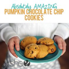 Food and Drink. Absolutely Amazing pumpkin chocolate chip cookies howdoesshe.com