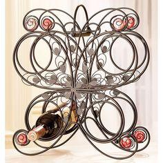 Butterfly wine rack.